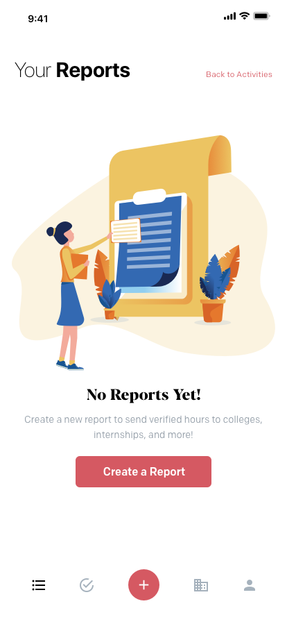 Your Reports (Empty)